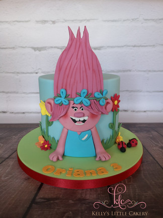 Poppy from Trolls Cake
