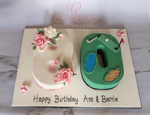 80 Number Cake