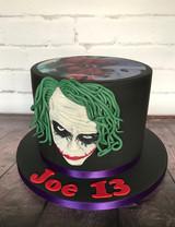Handpainted Joker Cake