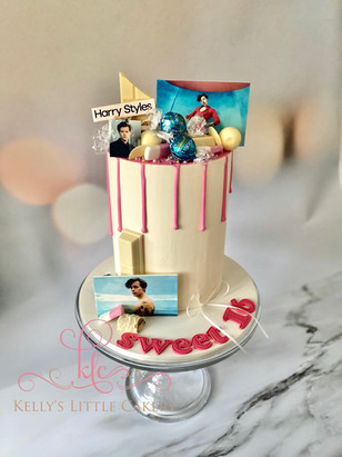 Themed Harry Styles Drip Cake