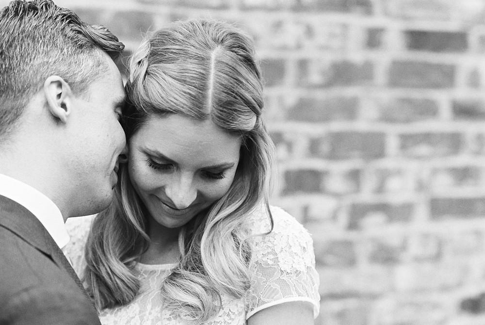 Hochzeitsfotografie in schwarz weiß