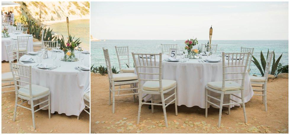 table at Amante Beach Club Ibiza