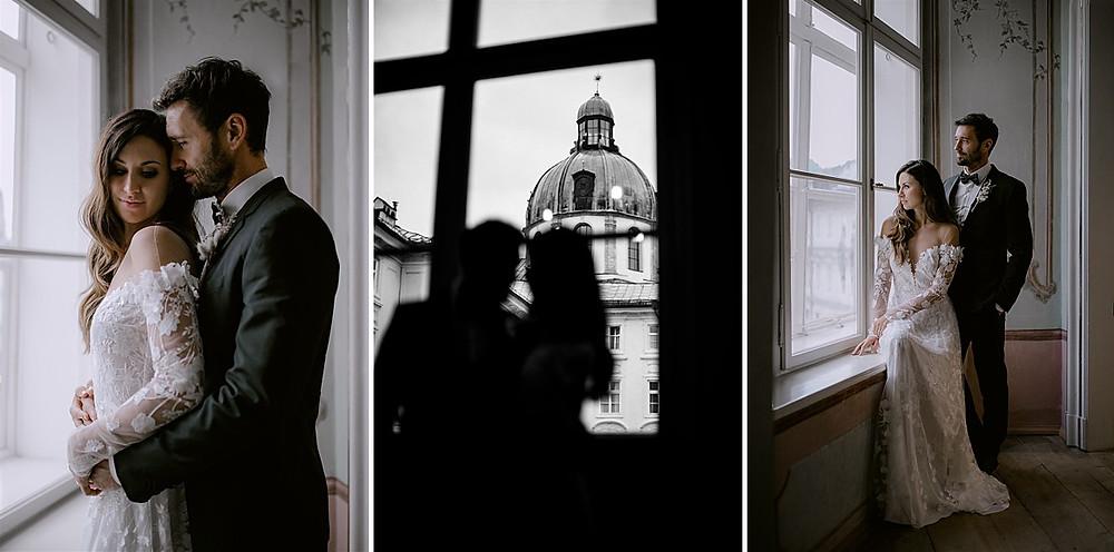 Ideen Paarshooting Luxushochzeit in der Hofburg Innsbruck