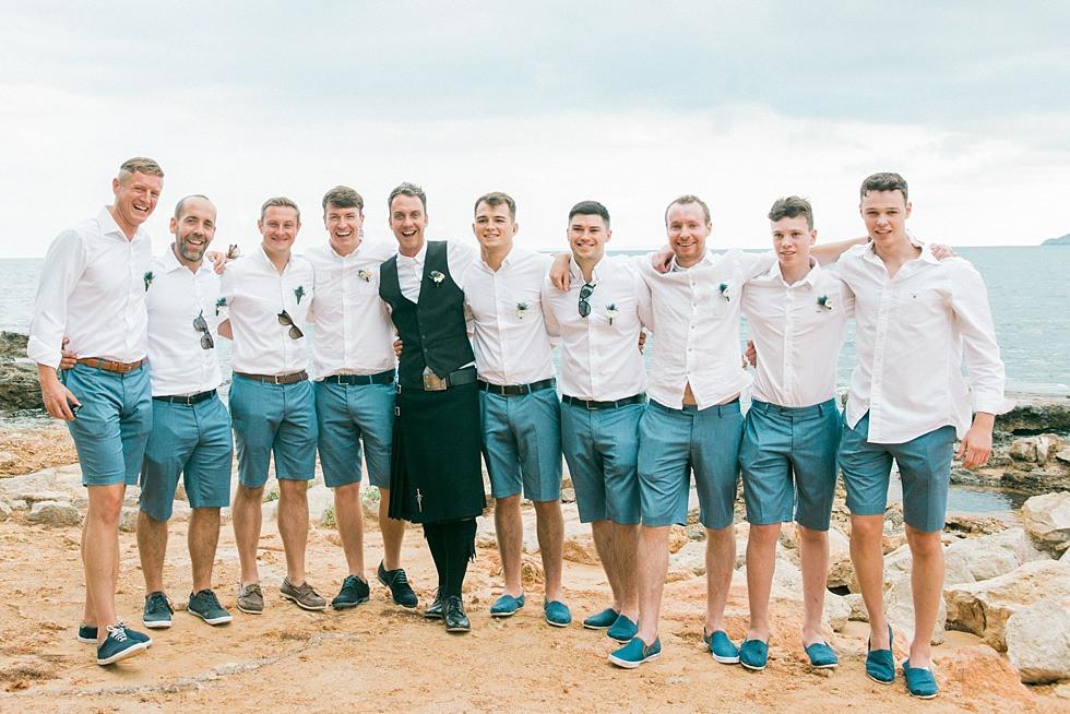 Bräutigam mit Ushers & MC on Ibiza