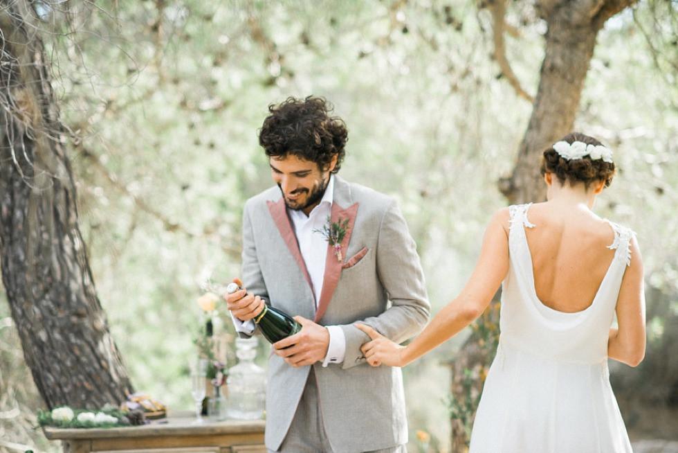 ibiza wedding under pines