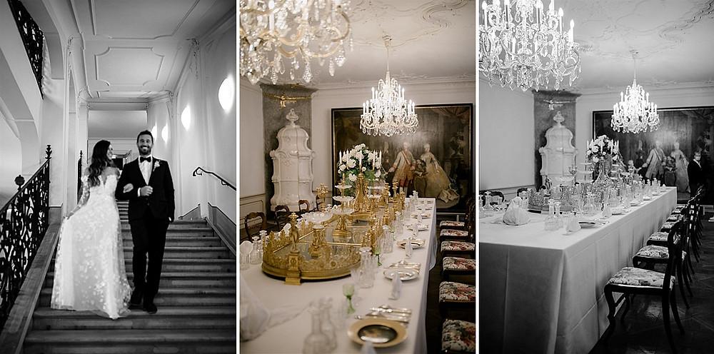 Tischdeko Luxushochzeit in der Hofburg Innsbruck