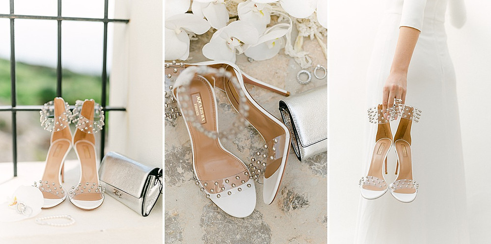 Braut Accessoires all in white