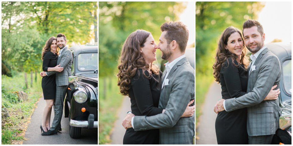 Engagement shoot with London cab