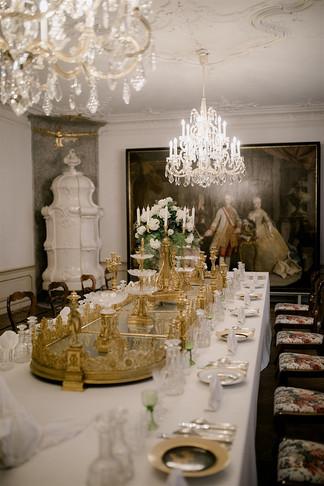 Schlosshochzeit Tischdekoration