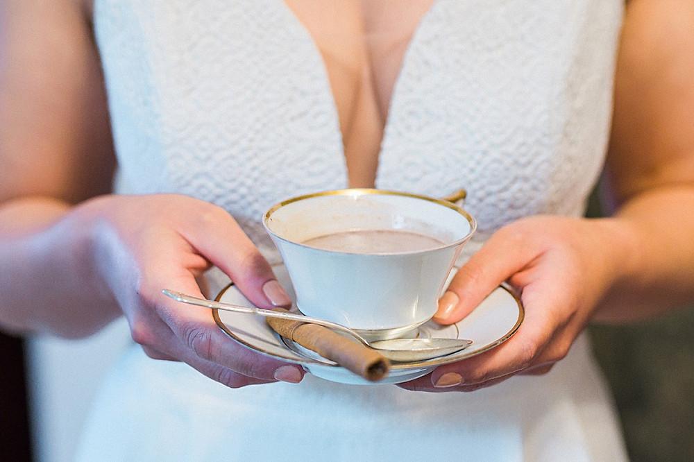 Hygge Hochzeitsideen in blau Hot Chocolate Bar