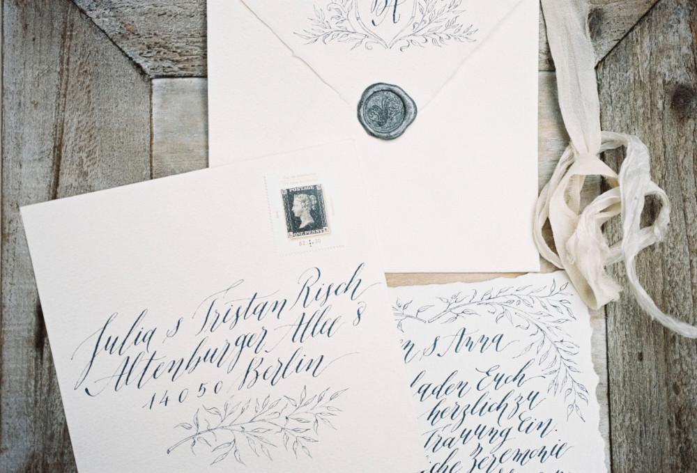 Kalligraphie Poesie der feder