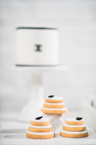 Hochzeitstorte und Cookies schwarz weiß Coco Chanel
