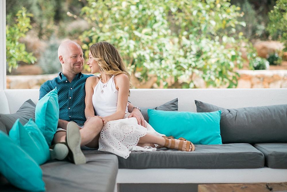 Engagement shoot at private villa Ibiza