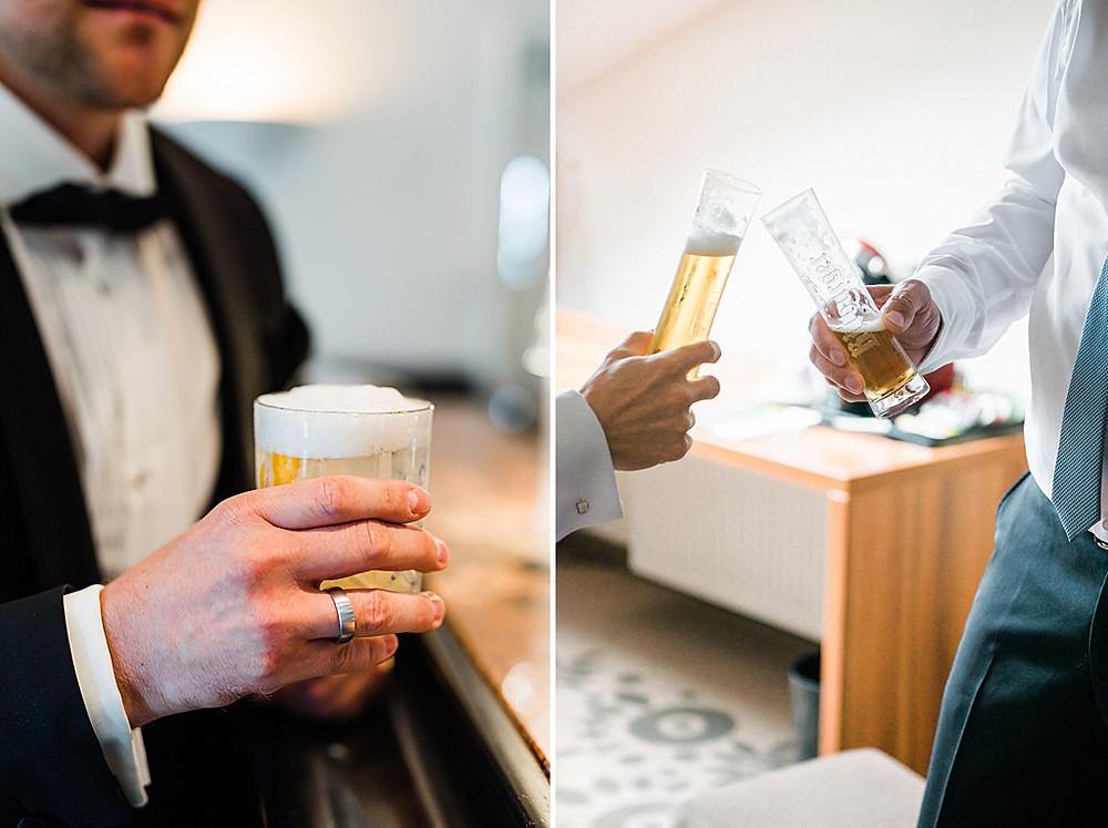 Bräutigam mit Drink