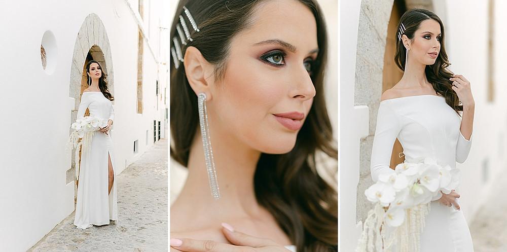 Brautfrisur offenes Haar mit Spangen