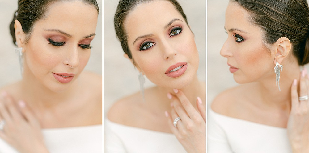 Bridal Make-up for classy hair styles