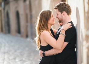Paarshooting in Ibizas Altstadt | Ibiza Engagementshoot