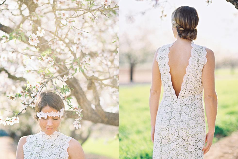 ibiza wedding - bridal portrait back