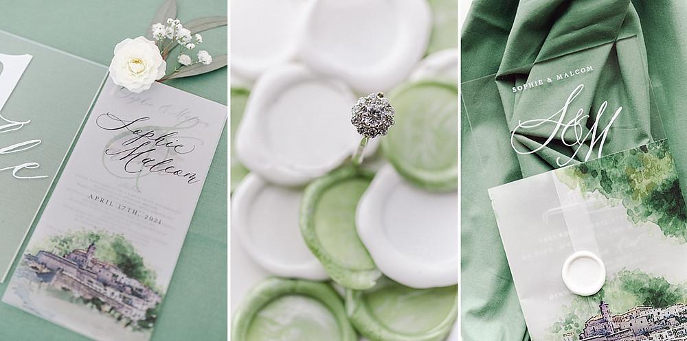 Papeterie von Martina Design & paper mit Diamantring von Van Bruun