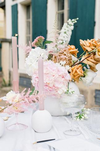 Sommerlicher Tischdeko Ideen im zarten Pastell