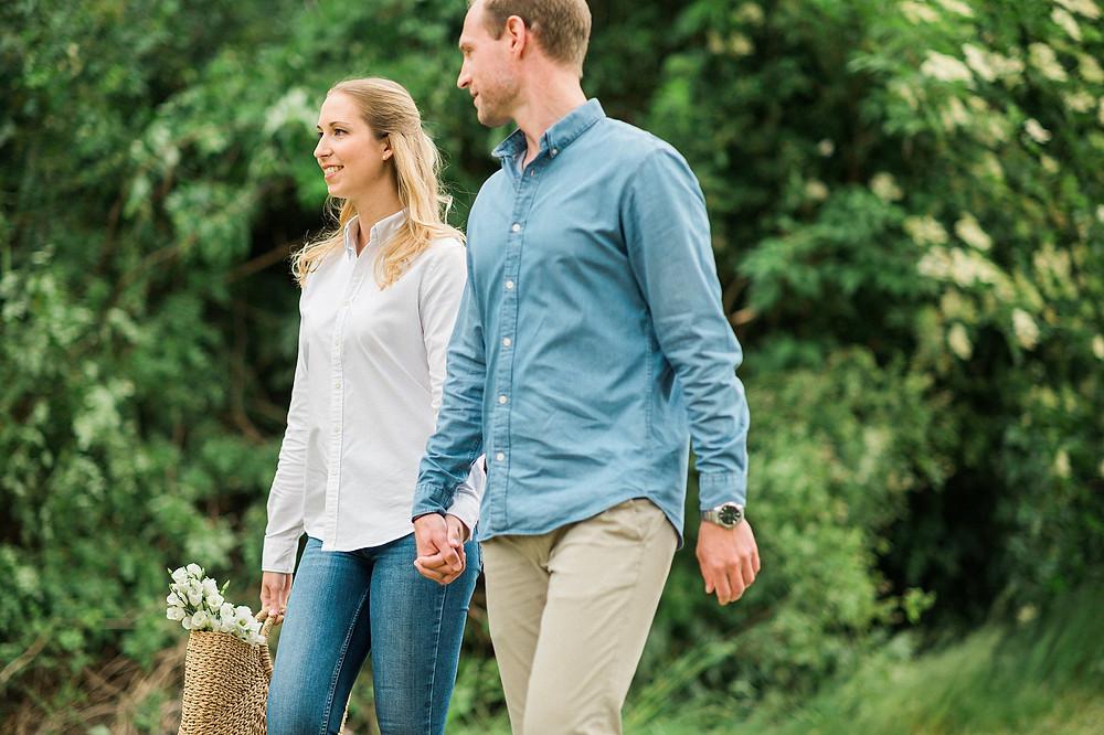Verlobungsshooting an der Elfrather Mühle