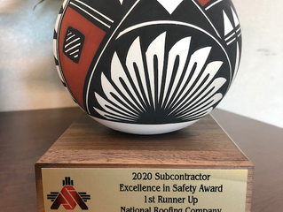 National Roofing Wins ASANM Safety Award