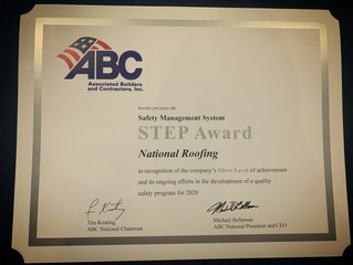 National Roofing S.T.E.P. Safety Award