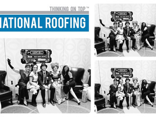 National Roofing turned Black & White and Blue for FMANM