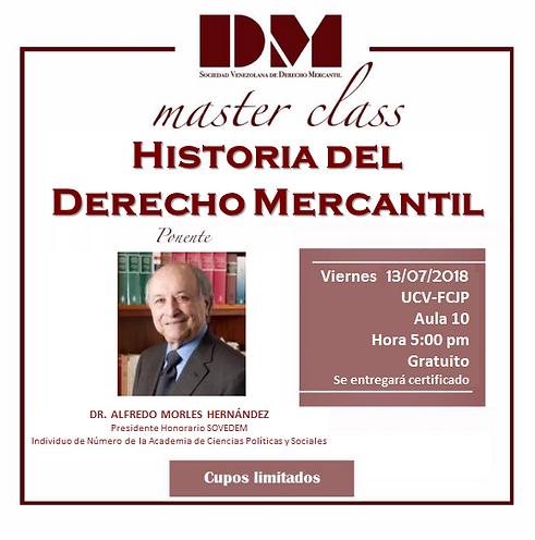 Master Class - Historia del dercho merca