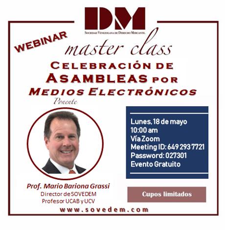 Master Class - Asambleas medios electron