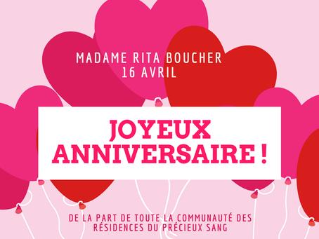 Bonne fête Mme Boucher !