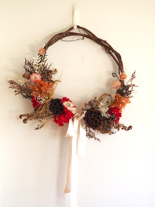 Mrs Claus - Designer Dried Wreath