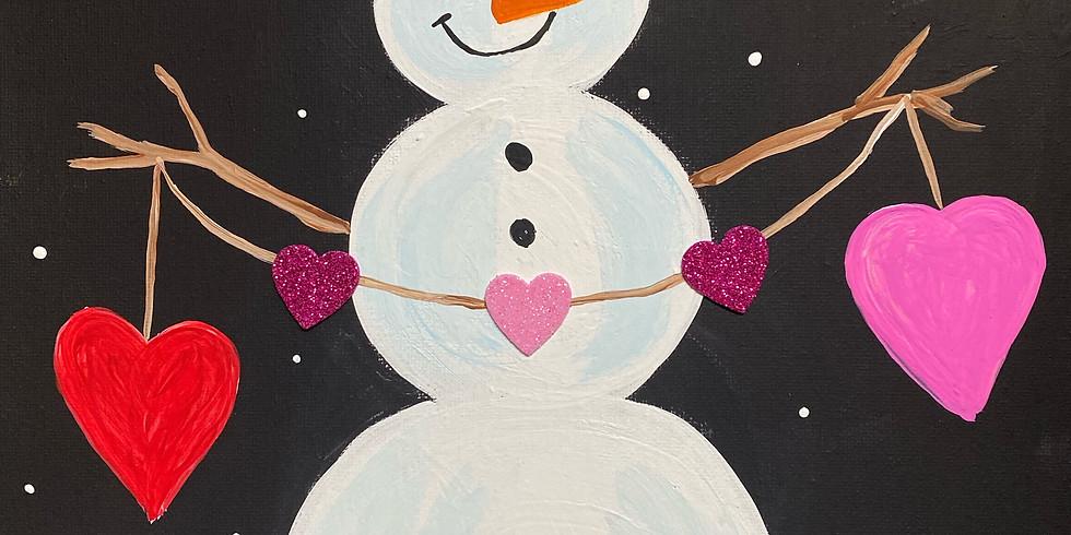 Kid's Painting Class: Loving Snowman