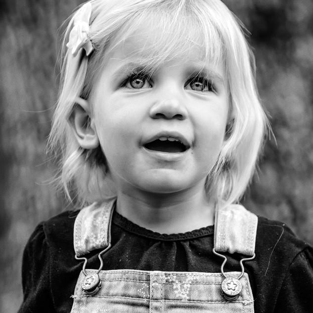 Blond girl face portrait