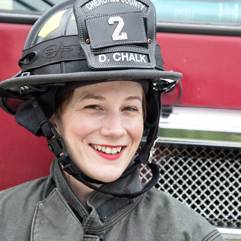 female firefighter headshot ball ground ga
