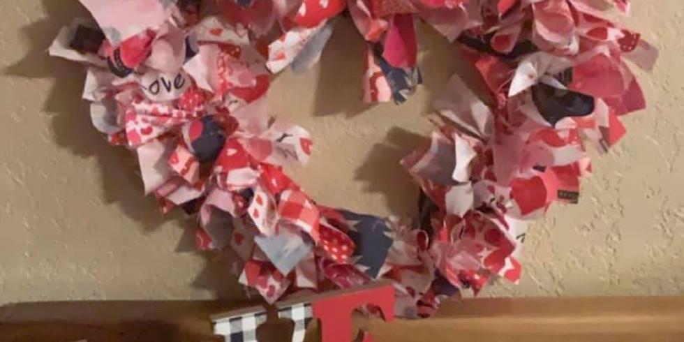 Valentine's Rag Wreath Class