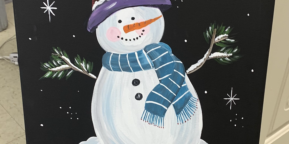 Adult Painting Class: Winter Welcome Snowman