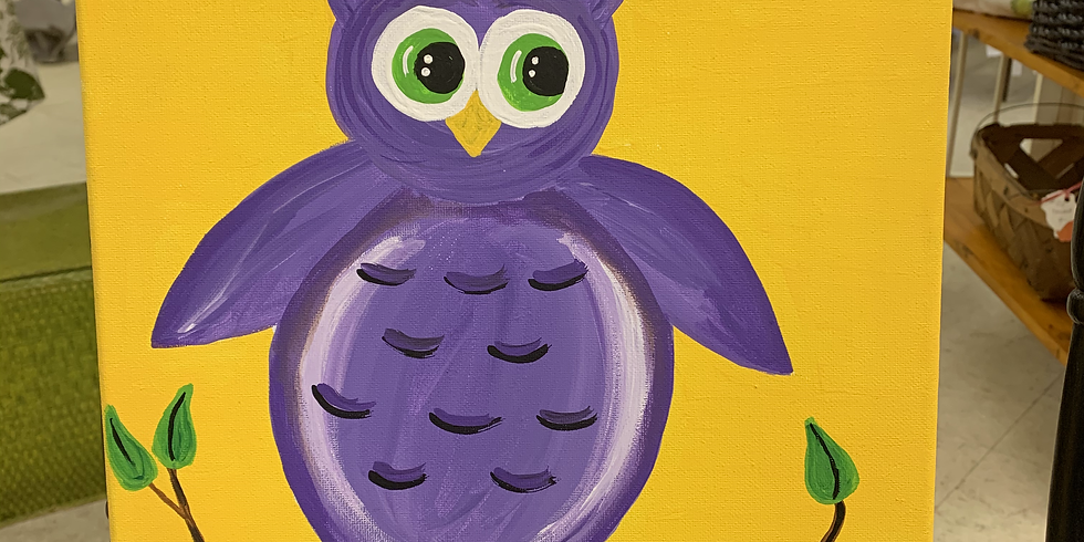 Children's Painting Class: Spring Owl