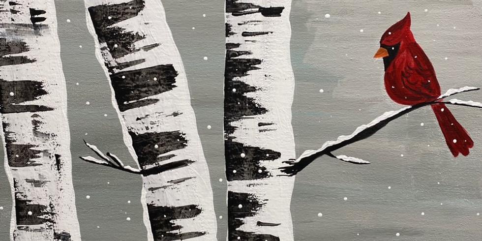 Adult Painting Class: Birch Trees Jan 16