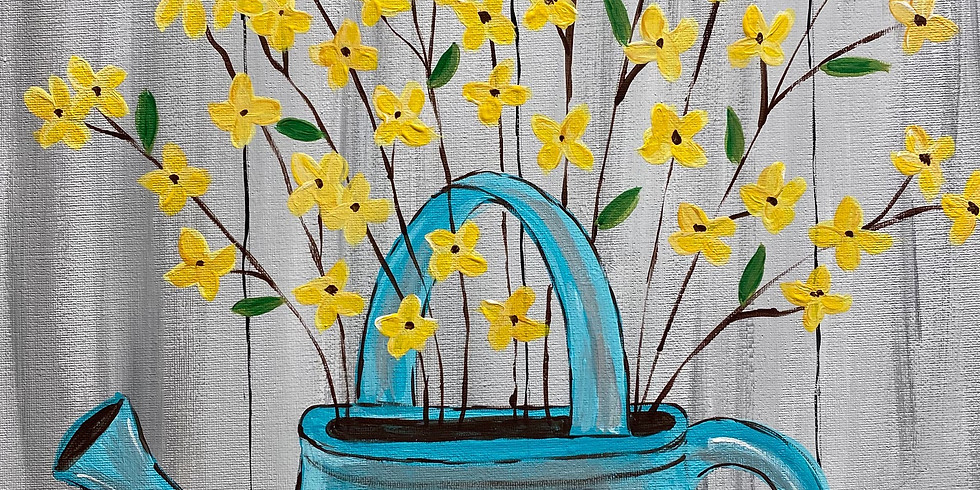 Painting Class: Watering Can With Flowers