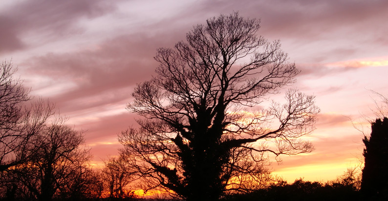 Sunset over Top Dingley