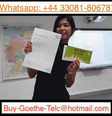 WhatsApp :+4433081-80678) Buy Goethe certificate in Germany - Goethe certificate online in Berlin