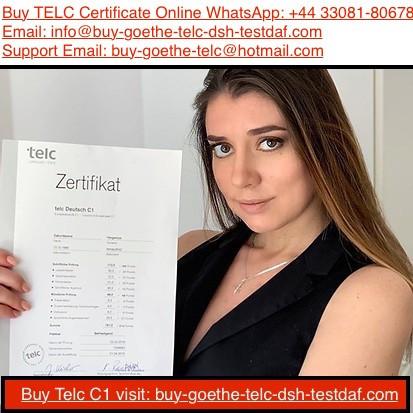 WhatsApp: +4433081-80678) Buy Registered TELC C1 Certificate For Sale - Get Genuine Telc German Certificates