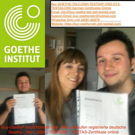info@buy-goethe-telc-dsh-testdaf.com) Buy genuine Goethe certificate without exams online in Berlin