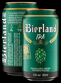 Bierland IPA lata 350 ml frente e verso.
