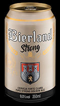 Bierland Strong lata 350 ml frente.