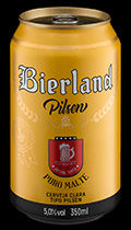 Bierland Pilsen lata 350 ml frente.