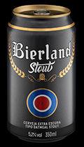 Bierland Stout lata 350 ml frente.