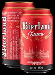 Bierland Vienna lata 350 ml frente e verso.