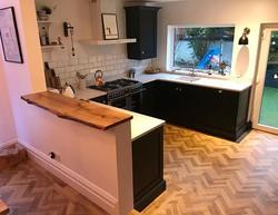 Waney edge oak board added as a serving